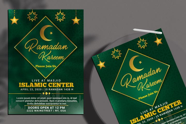Ramadan Kareem Flyer Template in PSD vol.1