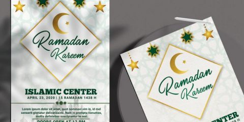 Ramadan Kareem Flyer Template in PSD vol.2