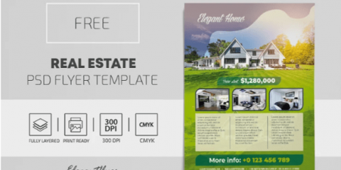 Real Estate PSD Flyer Template for Free