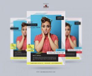 Runway Minimal Fashion Show Free PSD Flyer Template