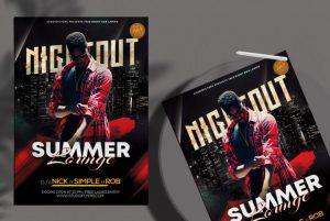 Summer Lounge Nightout Flyer Free PSD Template