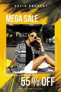 Summer Seasonal Sale Free PSD Flyer Template