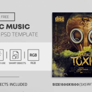 Toxic Music Free CD Cover PSD Template