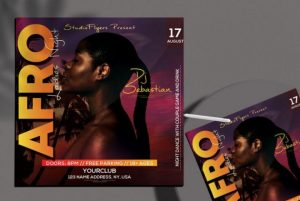 Free Afro Event Party Flyer Template in PSD