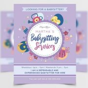 Free Babysitting Flyer Template in PSD