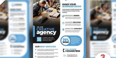 Free Business Marketing Flyer Template in PSD