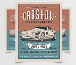 Free Car Show Flyer Template in PSD