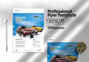 Free Car Wash Flyer Template in PSD