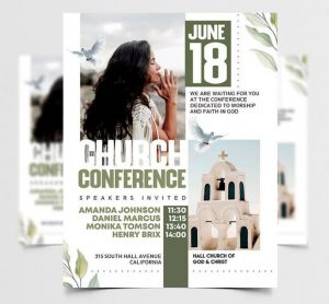 Free Church Conference Flyer Template in PSD