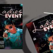 Free Club & Party Flyer Template in PSD