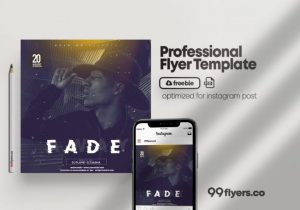 Free Fade Away Event Flyer Template in PSD