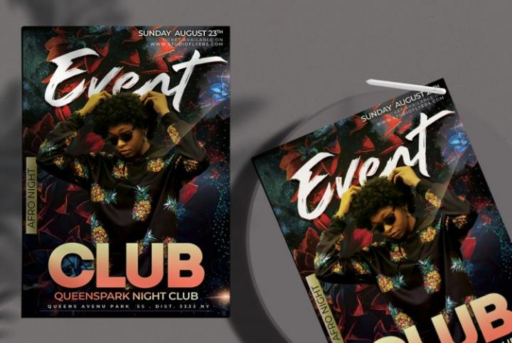 Free Festival Music Flyer Template in PSD