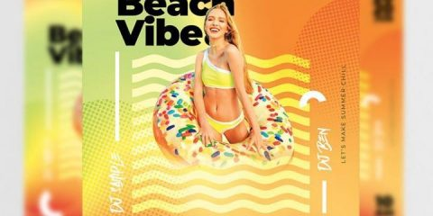 Free Go Beach Vibe Flyer Template in PSD