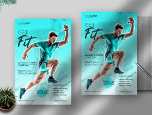 Free Gym And Fitness Flyer Template in PSD