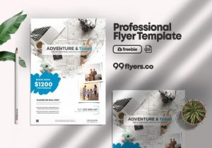 Free Holiday Travel Flyer Template in PSD