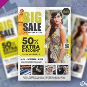 Free Huge Sale Flyer Template in PSD