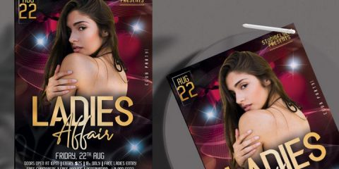 Free Ladies Affair Night Flyer Template in PSD