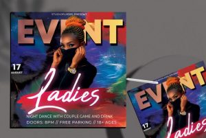 Free Ladies Event Flyer Template in PSD