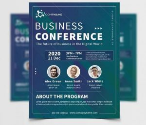 Free Meet UP Conference Flyer Template in PSD