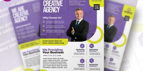 Free Modern Business Ad Flyer Template in PSD