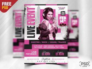 Free Modern Karaoke Flyer Template in PSD