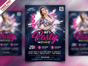 Free Night Club Event Flyer Template in PSD