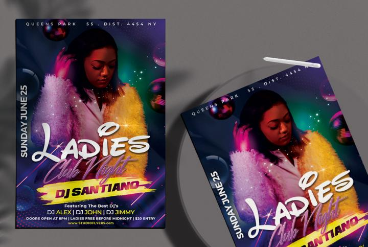Free Night Party Club Flyer Template in PSD