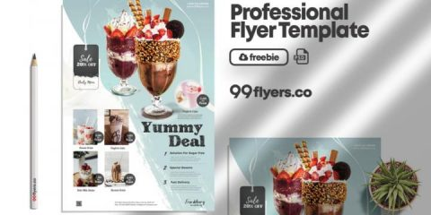 Free Product Sale & Promotion Flyer Template in PSD