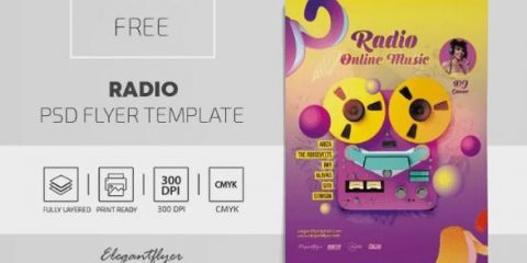 Free Radio Music Flyer Template in PSD
