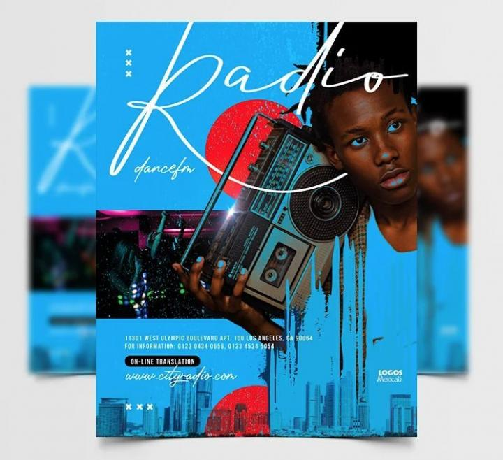 Free Retro Music Event Flyer Template in PSD