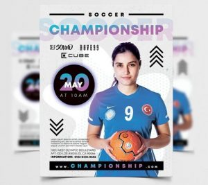 Free Soccer Championship Flyer Template in PSD