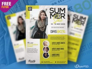 Free Special Summer Sale Flyer Template in PSD