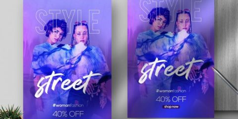 Free Street Style Fashion Flyer Template in PSD