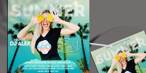 Free Summer Event Template in PSD