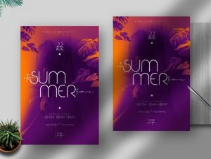 Free Summer Time Flyer Template in PSD