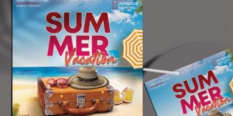 Free Summer Vacation Flyer Template in PSD
