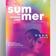 Free Summer Wonderland Flyer Template in PSD
