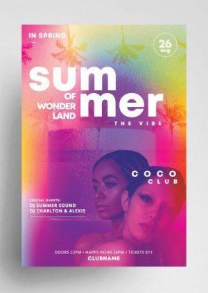 Free Summer Wonderland Flyer Template in PSD