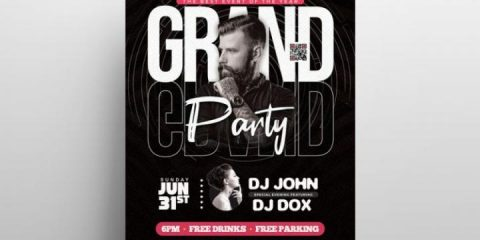 Free The Grand Party Flyer Template in PSD