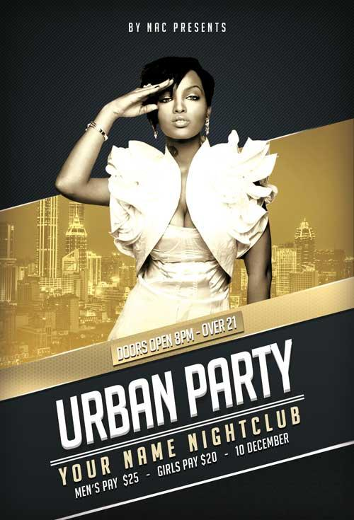 Free Urban Music Flyer Template in PSD