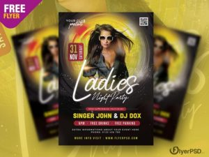 Ladies Night Party Flyer PSD Template for Free