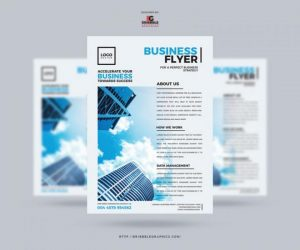 Modern Design Free Business Flyer in PSD
