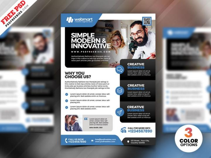 Corporate Business PSD Flyer Template for Free