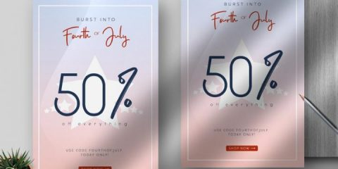 Free 4th Of July Sale Flyer Template in PSD