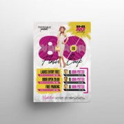 Free 80's Party Flyer Template in PSD