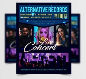 Free Concert Event Flyer Template in PSD