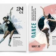 Free Dance Minimal Flyer Template in PSD