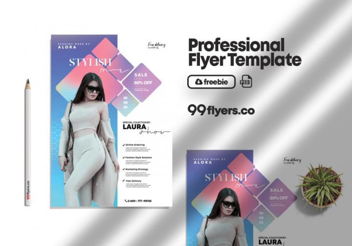 Free Fashion Summer Wear Flyer Template in PSD