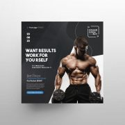 Free Fitness Ad Flyer Template in PSD