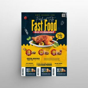 Free Food Promotion Menu Flyer Template in PSD